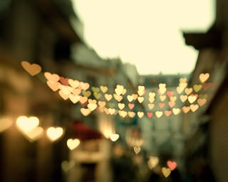 Heart-shaped lights