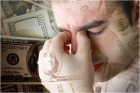 Anxiety and stress caused by money